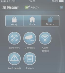 Visonic Alarm App